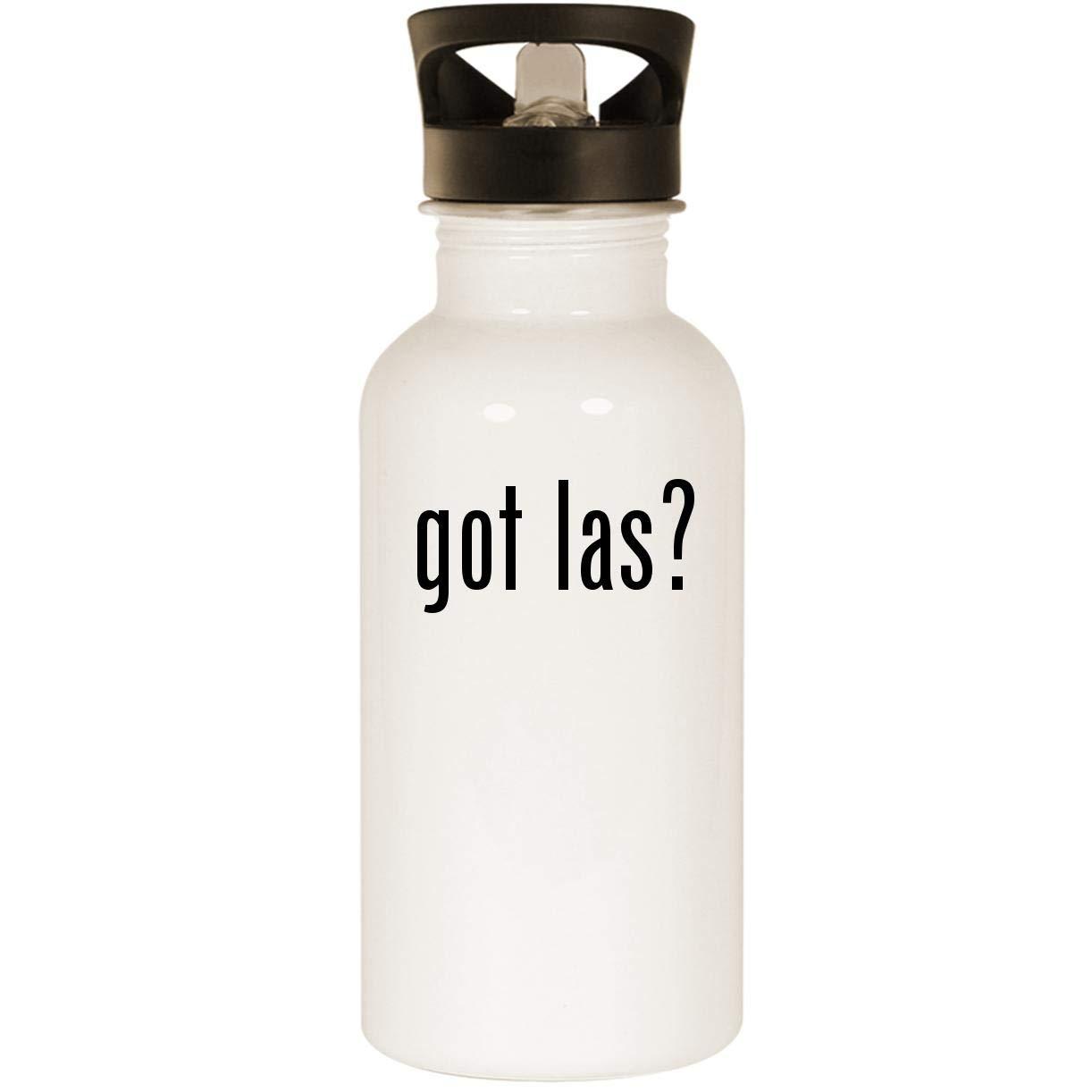 got las? - Stainless Steel 20oz Road Ready Water Bottle, White