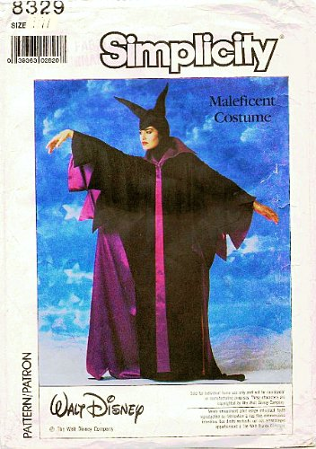 Simplicity 8329 Walt Disney Maleficent Costume Sewing Pattern