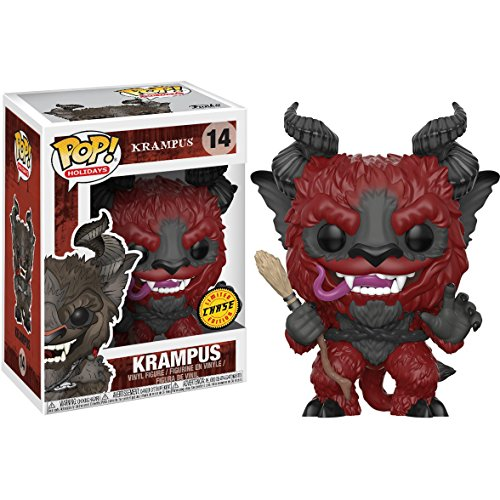 (Funko Krampus (Chase Edition) POP! Holidays x Krampus Vinyl Figure + 1 Classic Horror & Sci-fi Movies Trading Card Bundle)
