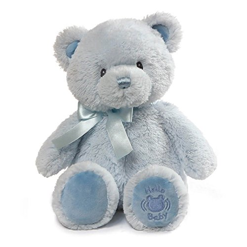 Baby GUND My First Teddy Sound Toy Stuffed Animal Plush, Blue, 10