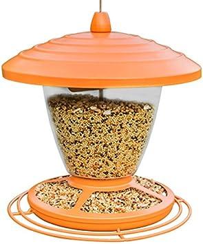 Pet Online Garden bird feeder villa balcón al aire libre comedero para pájaros alimentador de pájaros ave automática alimentación de aves de naranja