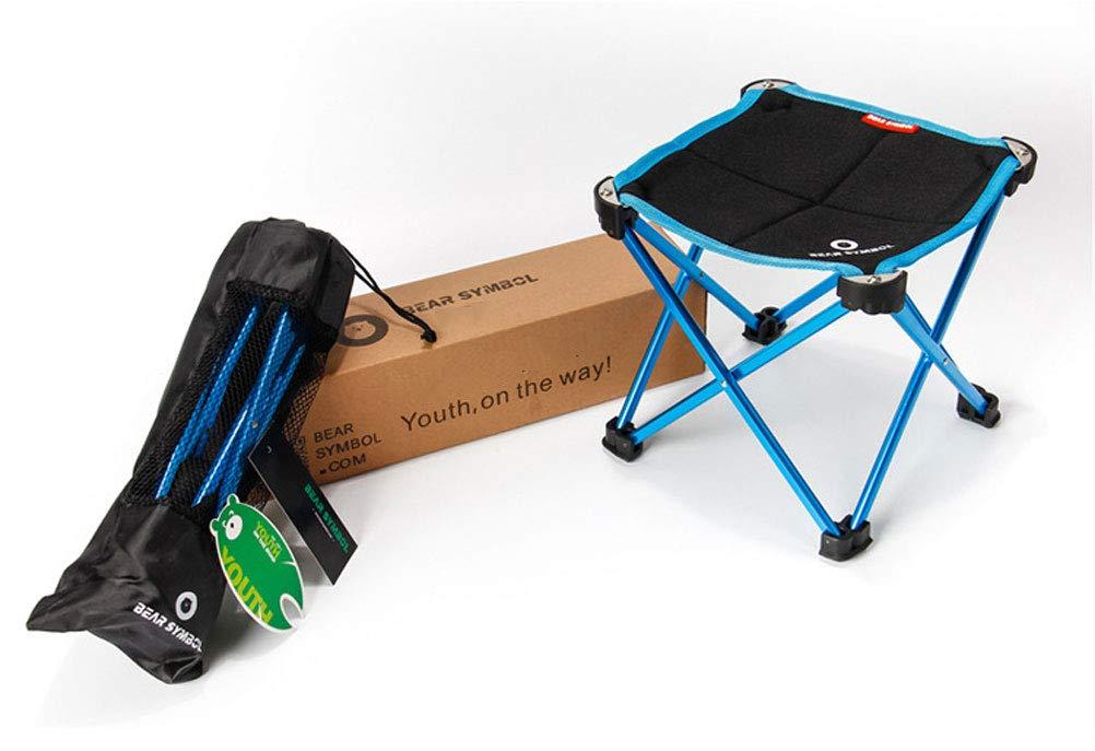 Silla Plegable Camping Plegable Ideal para Acambaca Senderismo Viaje Caza Pesca,Blue: Amazon.es: Deportes y aire libre