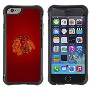 King Case@ Chicago Blackhawk Indian Ice Hockey Rugged hybrid Protection Impact Case Cover For iphone 6 6S CASE Cover ,iphone 6 4.7 case,iphone 6 cover ,Cases for iphone 6S 4.7