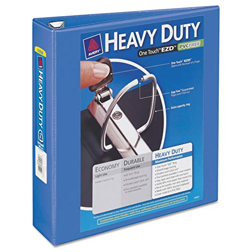 AVE17597 - Heavy-Duty View Binder w/Locking 1-Touch EZD Rings