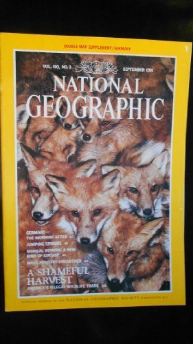 National Geographic:  September 1991 - Vol. 180, No. 3 (Morning After: Germany Reunited; All Eyes on Jumping Spiders; New Kind of Kinship; Maya Artistry Unearthed; America's Illegal Wildlife Trade)