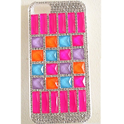 EVTECH(TM) Coque 3D Bling Strass Case Transparent Back Cover Cristal Etui Housse Hard Coque Iphone 5 5S At & T Verizon T-Mobile & Sprint