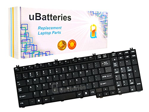 UBatteries Laptop Keyboard Toshiba Satellite L555D-S7005 4H.N9201.061 6037B0026902 9J.N9282.801 9J.N9282.W01 9J3N9282.A01 A000039270 AEBD3U00050 AEBD3U00150-US MP-06873US-9204 MP-06873US-930 LKB-TO11B
