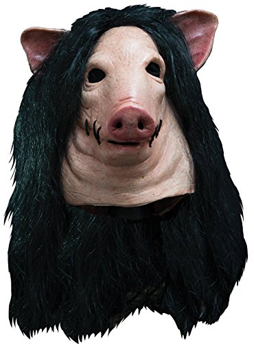 Trick or Treat Studios Men's Saw-Pig Mask, Multi, One Size (Halloween Costumes Saw Pig)
