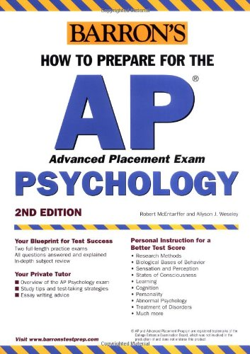 How to Prepare for the AP Psychology (BARRON'S HOW TO PREPARE FOR THE AP PSYCHOLOGY  ADVANCED PLACEMENT EXAMINATION)