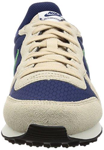 Nike Wmns Internationalist, Sandalias con Plataforma para Mujer Azul (Binary Blue/stadium Green/oatmeal/sail/black)