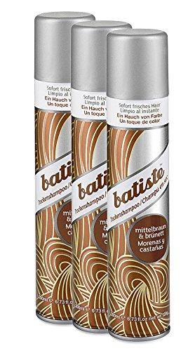 Batiste Dry Shampoo (3er Pack 2+1) - Trockenshampoo - Color brünett (3x200ml)