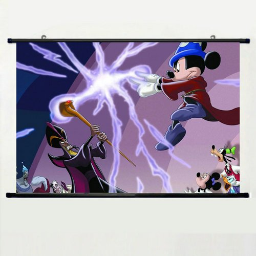 Home Decor Lovely Animation Cartoons Cosplay Poster with Disney Villains Wall Scroll Poster Fabric Painting 24 X 36 Inch (60cm X (Sexy Disney Villains)