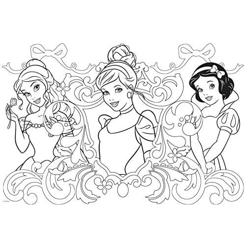 50%OFF Disney - Jumbo, Puzzle colorear princesas, tamaño medio ...
