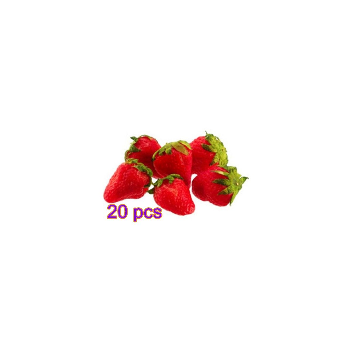 Fendii 20PCS Artificial Fake Food Fruit Strawberry 3cm*2.5cm