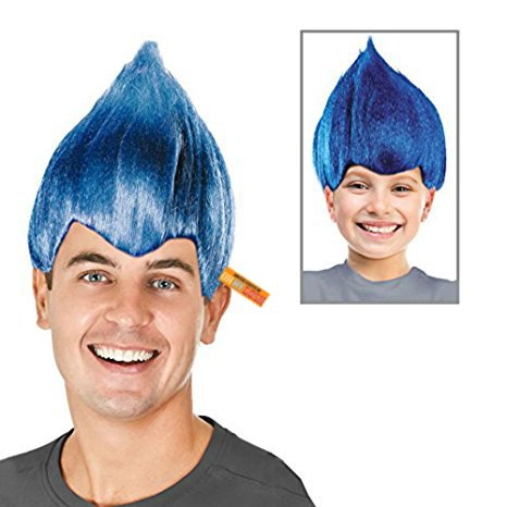 Troll Wig - #1 Quality Colorful Troll Costume Hair - 5 Colors Available - Cosplay Troll Wig (Blue) ()