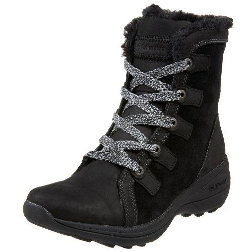 Columbia Women's BL2357 Mineola Winter Boot,Black/Laurel,5 M
