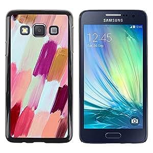FECELL CITY // Duro Aluminio Pegatina PC Caso decorativo Funda Carcasa de Protección para Samsung Galaxy A3 SM-A300 // White Purple Peach Nail Polish