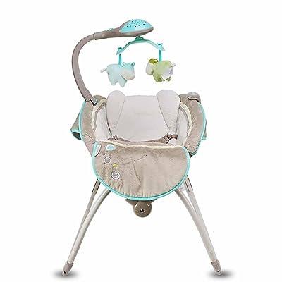GUO Bébé berceau transat retour dormir musique agitateur électrique pliable bébé lit