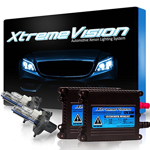 XtremeVision 35W HID Xenon Conversion Kit with Premium Slim Ballast - H4 / 9003 10000K - Dark Blue - 2 Year Warranty - Conversion Kit Honda Element