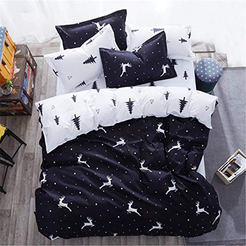 Austin Daybed - CHSLRER Green Plant Pattern Duvet Cover 3/4 Pcs Bedding Set Kids Child Soft Cotton Bed Linens Single Queen King Size Bedspreads Bedlinen 10 King 2.2m 4pcs Set