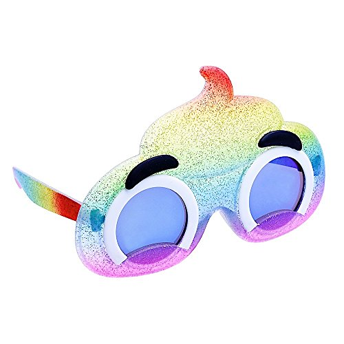 Sun-Staches Costume Sunglasses Emoji Lil' Characters Rainbow Poop Party Favors UV400