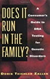 Does It Run in the Family?, Doris Teichler Zallen, 0813524466