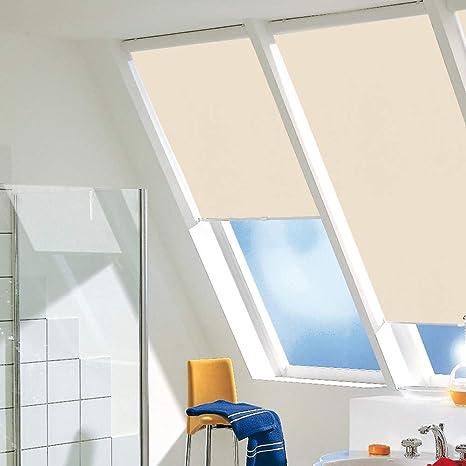 Velux VL VF VT Dachfensterrollo Verdunkelungsrollo Thermo f hellgelb