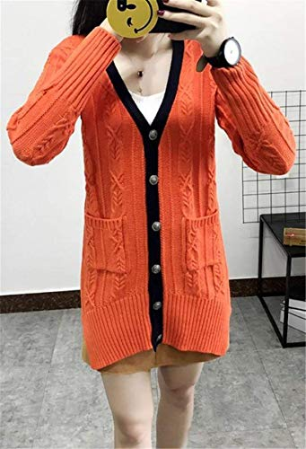 Longues Hiver Saoye Manteau Femme Cardigan Fashion Tricot en Automne nxqzHPA7