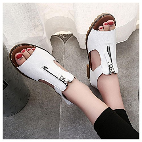 Platform Summer Sandals White Women Summer Sandals Ladies Casual Inkach Wedges Sport Sandals qgXt8twFx