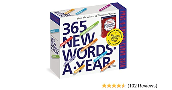 Amazon 365 New Words A Year Page A Day Calendar 2018