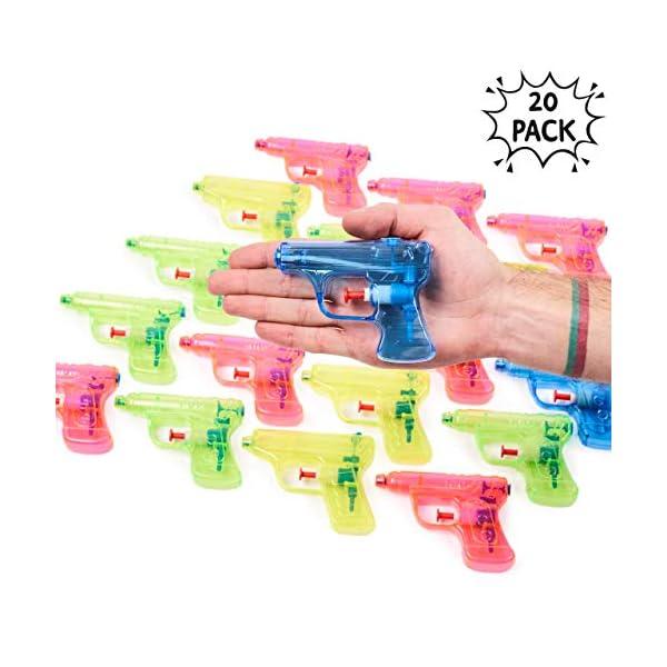 THE TWIDDLERS 20 Pistole ad Acqua in 4 Colori Assortiti | Ideali Come regalini per Le Feste di Bambini o da Portare a… 1 spesavip