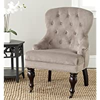 Safavieh Mercer Collection Falcon Arm Chair, Mushroom Taupe