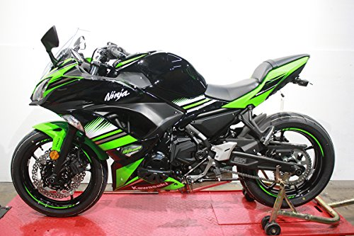 2017-On T-Rex Racing Kawasaki Ninja 650 / ABS/KRT Edition No Cut Frame Sliders (Green)