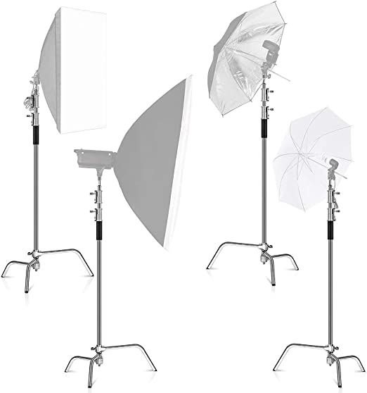 Amazon Com Kshioe Pro 100 Metal Adjustable Reflector Stand With 4ft 120cm Holding Arm And 2 Pieces Grip Head For Photography Studio Video Reflector Monolight Softbox And Other Equipment Camera Photo