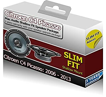 Citroen C4 Picasso Mac Audio Juego de altavoces para puerta trasera Slim Shallow coche Kit de altavoces: Amazon.es: Coche y moto
