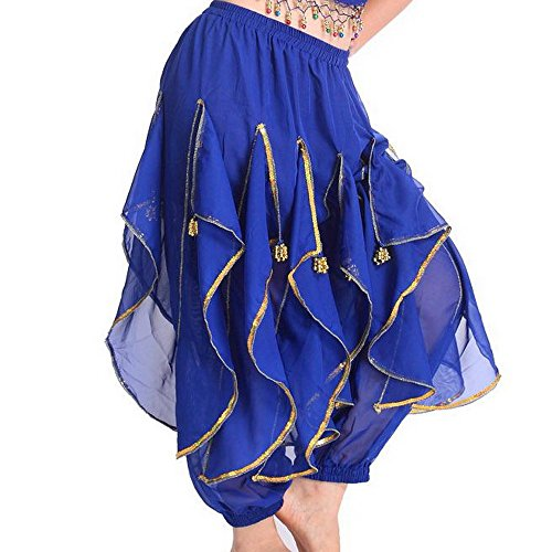 [TFJH Belly Dance Harem Bollywood Arabic Tribal Costume Pants] (Bollywood Costume Party)