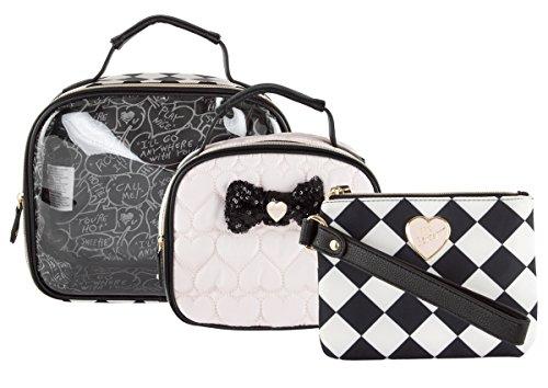 Betsey Johnson 3 Piece Cosmetic Train Case Set - - Jewelry Johnsons