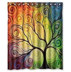 Art tree, tree art, tree of life decor 100% Polyester Shower Curtain