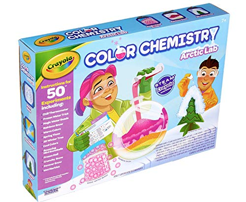 51mtUiKyp8L - Crayola Artic Color Chemistry Set for Kids, Steam/Stem Activities, Educational Toy, Ages 7, 8, 9, 10