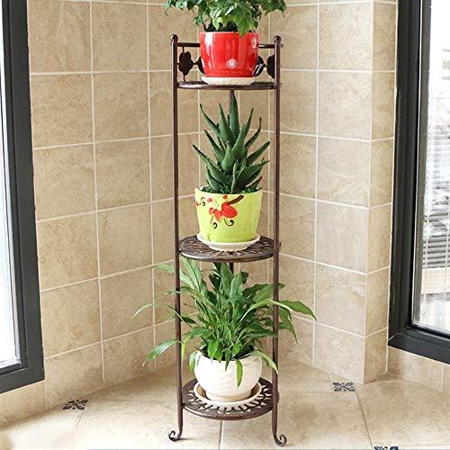 Giow Iron Flower Rack Multi - Storey Floor - Style Floor pots Balcony Stand The Living Room is Simple and Colorful (3 Colors Optional) (Size Optional) Stands (Color : C, Size : 2378cm) ()