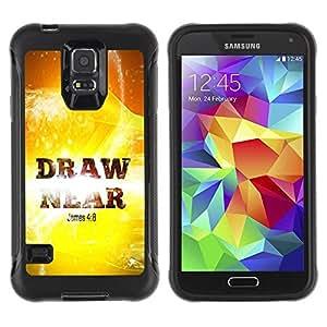 LASTONE PHONE CASE / Suave Silicona Caso Carcasa de Caucho Funda para Samsung Galaxy S5 SM-G900 / BIBLE James 4:8 Draw Near