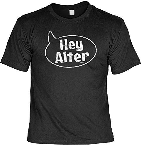 Herren - Oberteil Fun-T-shirt als tolles Geschenk zum Geburtstag Vatertag Hey Gr: XL Farbe: schwarz