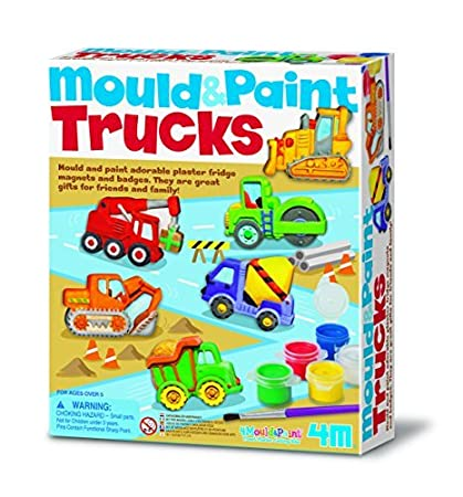 mould paint trucks kids children girls boys painting kit number 1 - Christmas Present Ideas For Kids