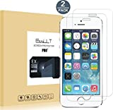 [2 pack] iPhone 5/5c/5s/SE Screen Protector, EasyULT Premium Tempered Glass Screen Protector,with Double