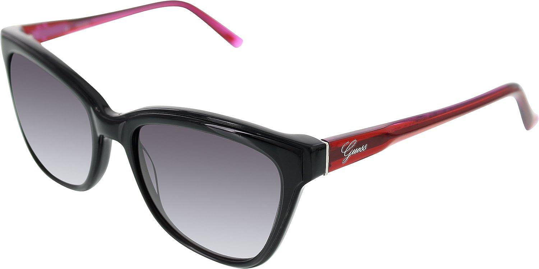 Guess Évasé carrés lunettes de soleil en noir - GU7359BLK-3556 GU7359 C38 56 ekymf7EO
