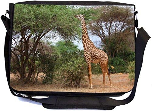 iraffe Design Premium Messenger Bag - School Bag - Laptop Bag - with padded insert for School or Work - With Matching Pencil Case (Giant Messenger Bag)