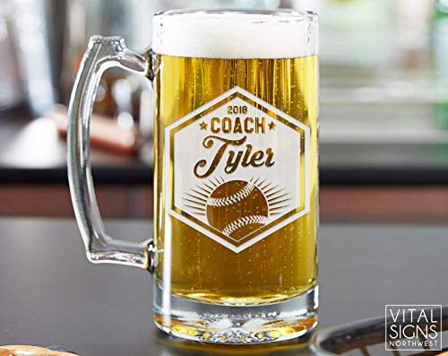 Soccer Coach gifts, Soccer gifts, Coach Beer glass, Coach gift, Soccer Coach, Basketball coach, Football Coach, Baseball Coach, Gift for coach, Baseball ()