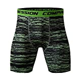 Sunyastor Men Compression Shorts Training Athletics Workout Tight Leggings Sports Gym Breathable Quick-Drying Fitness Shorts