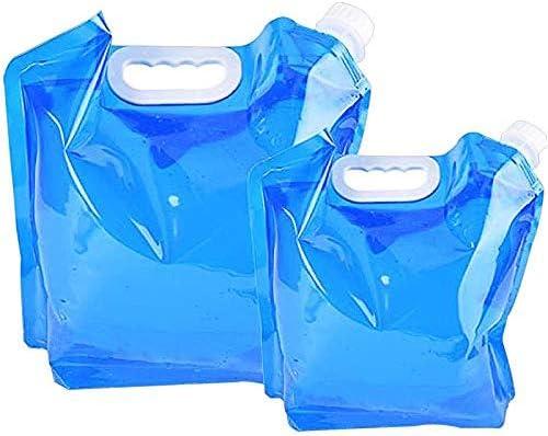 2 Pezzi Tanica per Acqua In Plastica Portatile Contenitore per Acqua Pieghevole Serbatoi DAcqua Contenitori DAcqua 3 Litri per Campeggio Escursionismo Pesca Arrampicata Picnic Viaggi AllAperto