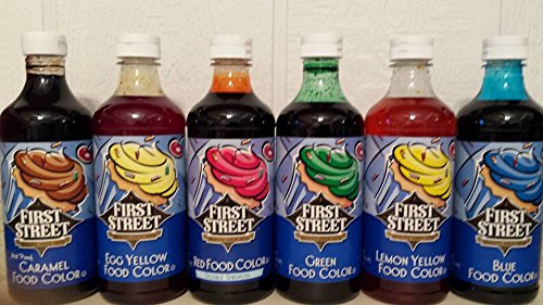 FIRST STREET® FOOD COLORING ASSORTMENT (6-16 oz Bottles)